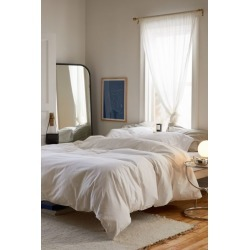 Washed Cotton Duvet Cover - White Full/queen at Urban Outfitters found on Bargain Bro India from Urban Outfitters (US) for $79.00