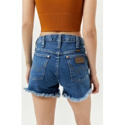 Wrangler High-Waisted Denim Cutoff Short - Dark Stone found on Bargain Bro India from Urban Outfitters (US) for $69.00
