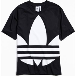 adidas Big Trefoil Tee - Black S at Urban Outfitters