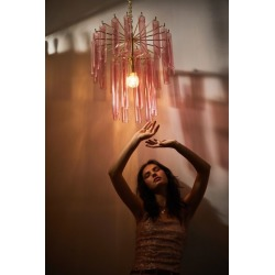 Tube Chandelier Pendant Light - Pink at Urban Outfitters