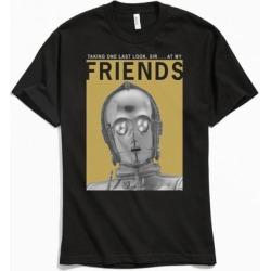 Star Wars C-3PO Friend Tee - Black L at Urban Outfitters