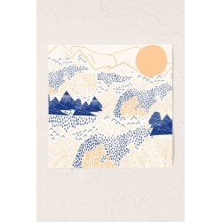 Leah Duncan Mountain Blossom Art Print found on Bargain Bro Philippines from Urban Outfitters (US) for $39.00