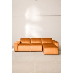 Modular Velvet Sofa - Orange S at Urban Outfitters