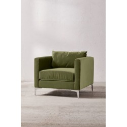 Chamberlin Velvet Chair - Green at Urban Outfitters