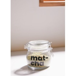 Small Clipped Glass Storage Jar - Clear S at Urban Outfitters