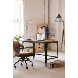 Pia Wooden Desk - Brown at Urban Outfitters