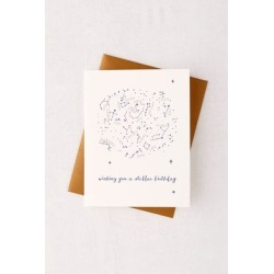 Constellation Birthday Card - White at Urban Outfitters