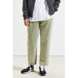UO Corduroy Beach Pant - Green L at Urban Outfitters