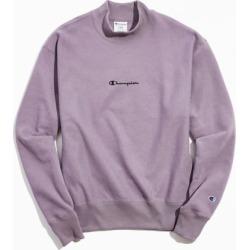 Champion UO Exclusive Script Logo Mock Neck Sweatshirt - Purple L at Urban Outfitters