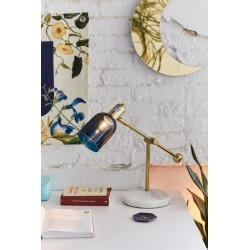 Marcel Tinted Glass Table Lamp - Blue at Urban Outfitters