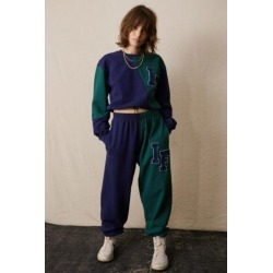 iets frans. Blue & Green Varsity Splice Jogger Pant found on Bargain Bro India from Urban Outfitters (US) for $54.00