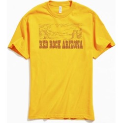 Red Rock Arizona Landscape Tee - Gold L at Urban Outfitters