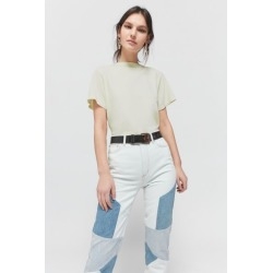 Urban Renewal Remnants Overdyed Crew Neck Tee - Green L at Urban Outfitters