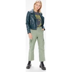 Urban Renewal Recycled Overdyed Cropped Surplus Pant - Green L at Urban Outfitters