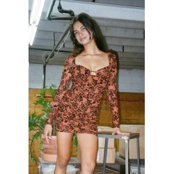 Kiss The Sky Velvet Rose Mini Dress found on MODAPINS from Urban Outfitters (US) for USD $52.00