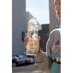 Printed Glass Water Bottle - Assorted at Urban Outfitters