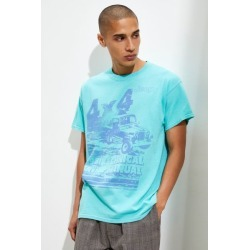 Jeep Service Manual Pigment Dye Tee - Blue M at Urban Outfitters found on Bargain Bro Philippines from Urban Outfitters (US) for $34.00