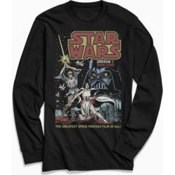 Star Wars Shadow Of A Dark Lord Long Sleeve Tee - Black L at Urban Outfitters