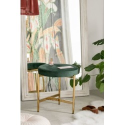 Daphne Velvet Stool - Green at Urban Outfitters