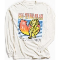 Wu-Tang Clan Tiger Long Sleeve Tee - White M at Urban Outfitters found on Bargain Bro India from Urban Outfitters (US) for $39.00