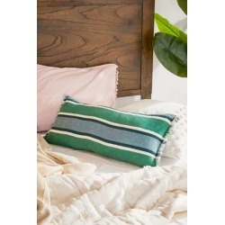 Ilona Striped Lumbar Pillow - Green at Urban Outfitters