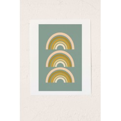 June Journal Autumn Rainbows Art Print found on Bargain Bro from Urban Outfitters (US) for USD $98.04