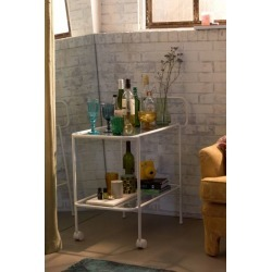 Aria Metal Bar Cart - White at Urban Outfitters