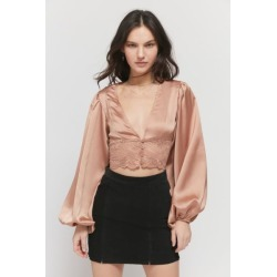 Lioness 5th Avenue Satin V-Neck Top found on MODAPINS from Urban Outfitters (US) for USD $29.99