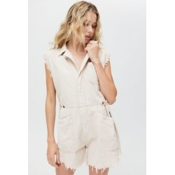 One Teaspoon Pallisades Coverall Romper - Pink Tint found on MODAPINS from Urban Outfitters (US) for USD $189.00