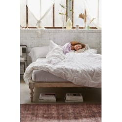 Washed Cotton Puffy Grid Duvet Cover - White Full/queen at Urban Outfitters found on Bargain Bro India from Urban Outfitters (US) for $69.00