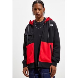 The North Face Graphic Full-Zip Hoodie Sweatshirt - Red S at Urban Outfitters