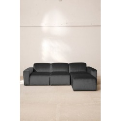 Modular Velvet Sofa - Grey S at Urban Outfitters