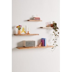 Simple Floating Wood Wall Shelf - Brown S at Urban Outfitters