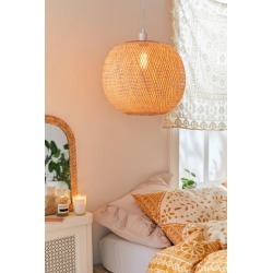 Alina Rattan Pendant Light - Beige at Urban Outfitters