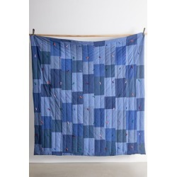 Urban Renewal Tufted Quilt - Blue at Urban Outfitters