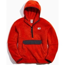 The North Face Campshire Sherpa Hoodie Sweatshirt - Orange S at Urban Outfitters