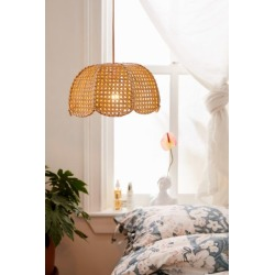 Cayla Cane Pendant Light - Beige at Urban Outfitters