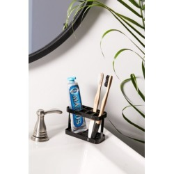 Divider Toothbrush Stand - Black at Urban Outfitters