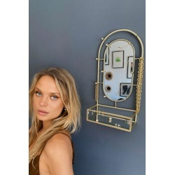 Faye Jewelry Storage Mirror Stand - Gold at Urban Outfitters