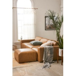 Modular Recycled Leather Sofa - Brown S at Urban Outfitters