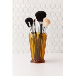 Rosalie Glass Makeup Brush Holder - Yellow at Urban Outfitters