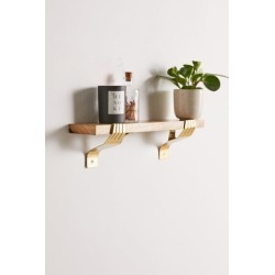 Hand Bracket Wall Shelf - Gold at Urban Outfitters