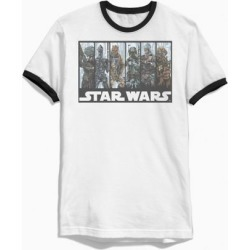 Star Wars Bounty Hunters Ringer Tee - Black S at Urban Outfitters