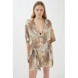 Motel Animal Print Shirt Dress found on MODAPINS from Urban Outfitters (US) for USD $19.99
