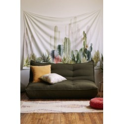 Cactus Landscape Tapestry - Green at Urban Outfitters