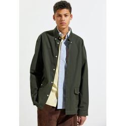 Hermanos Koumori Ripstop Overshirt - Green L at Urban Outfitters