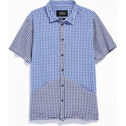 Native Youth Two-Tone Check Short Sleeve Button-Down Shirt found on MODAPINS from Urban Outfitters (US) for USD $19.99