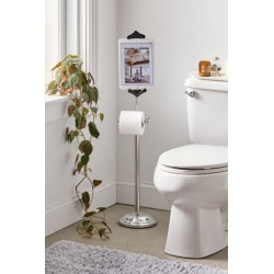 Toilet Paper Holder Tablet Stand - Silver at Urban Outfitters