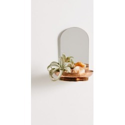Vanessa Mirror Wall Shelf - Gold at Urban Outfitters