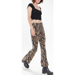 Urban Renewal Remnants Pull-On Flare Pant - Animal L at Urban Outfitters